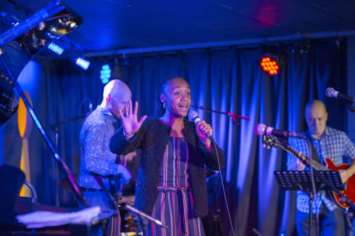 Co-curricular activity at Streatham & Clapham girl performing at the Hideaway Club