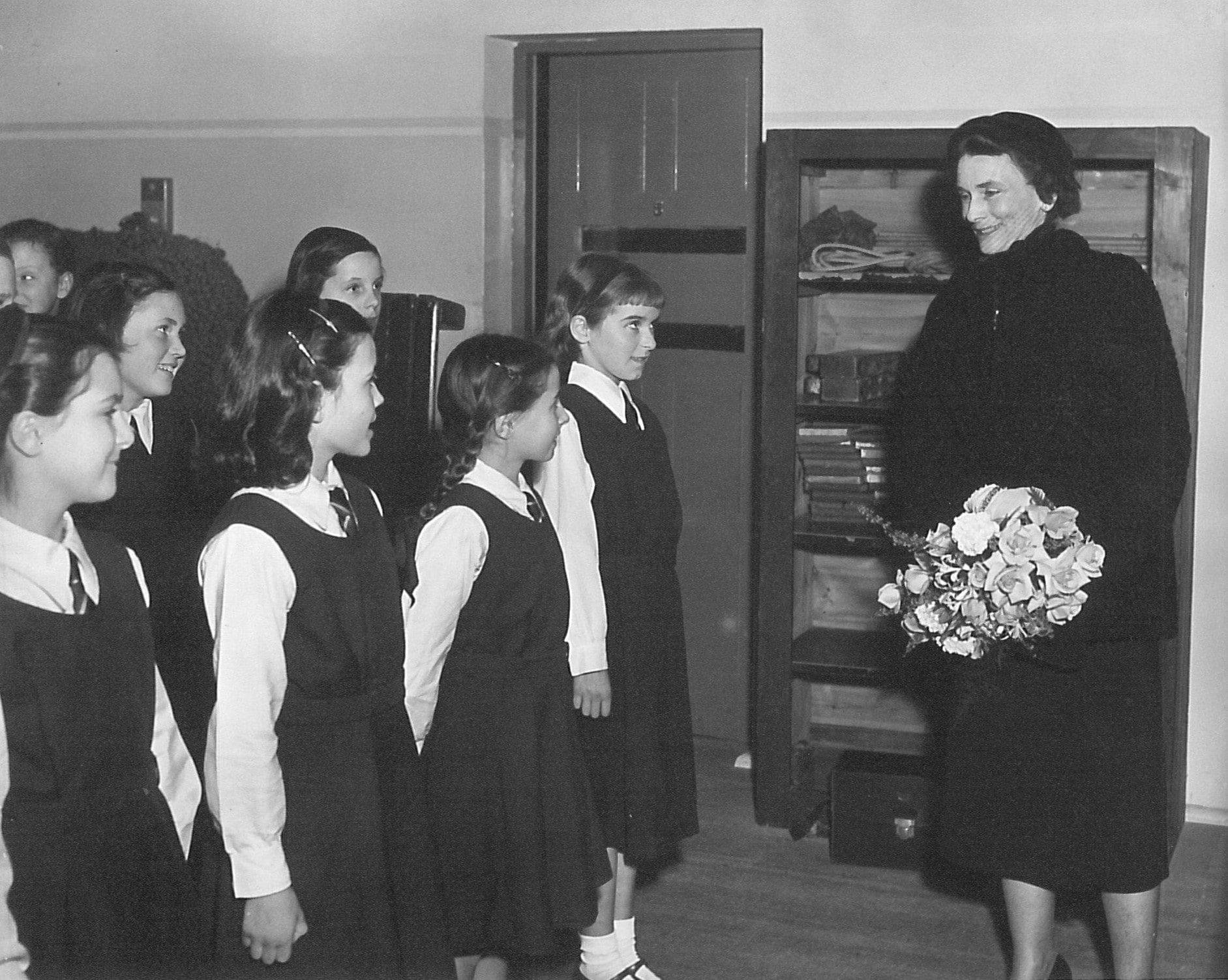 SCHS Royal Visit 1953