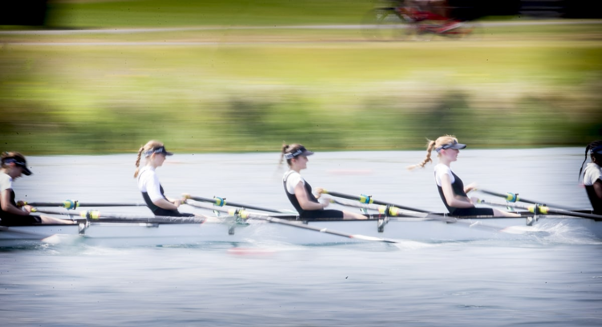 Streatham & Clapham girls rowing team at National Championships
