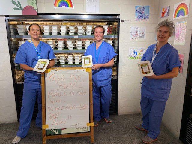 Free Meals for NHS staff preapred in SCHS kitchen