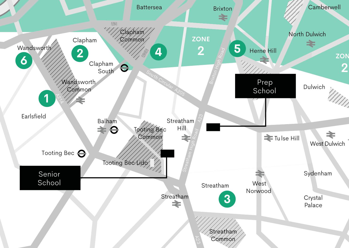 SCHS Minibus Routes Pickuppoints