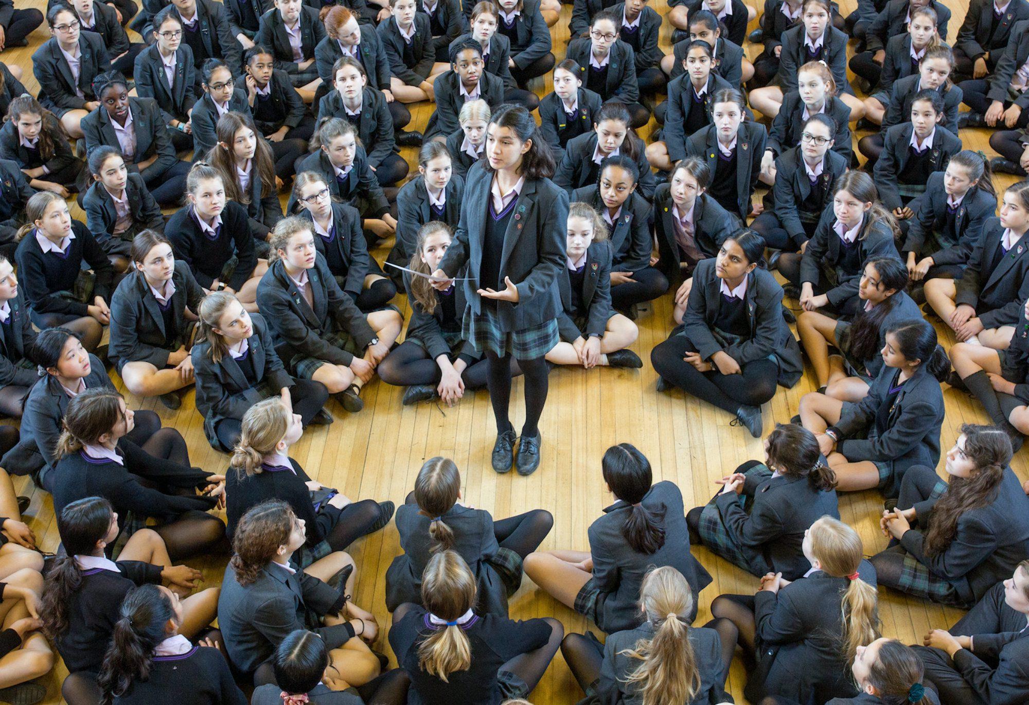 SCHS - Speaking to senior school girls
