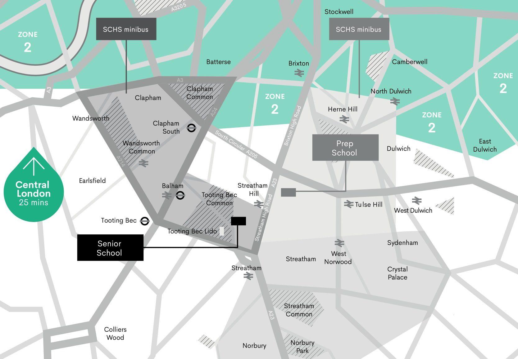 SCHS minibus routes