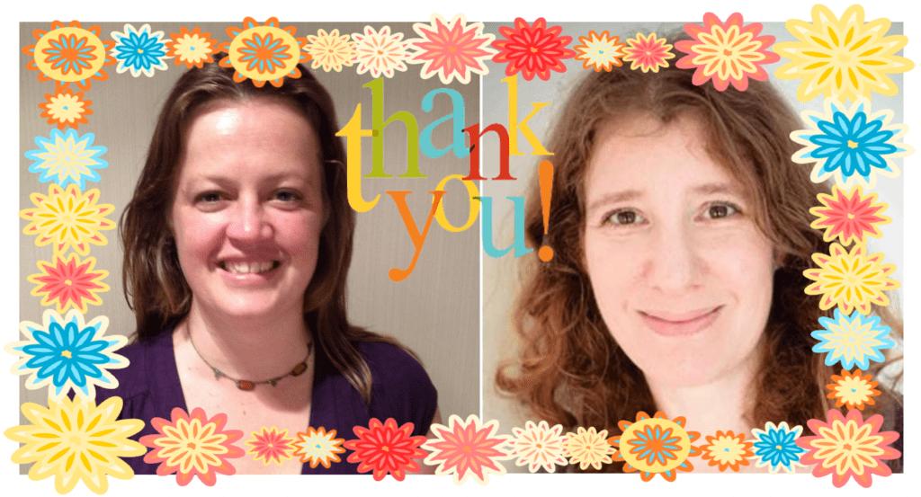 Brigid & Jane thanks